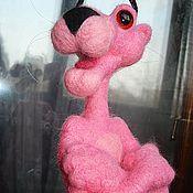 """Куклы и игрушки ручной работы. Ярмарка Мастеров - ручная работа валяная игрушка """"Розовая пантера"""". Handmade."""