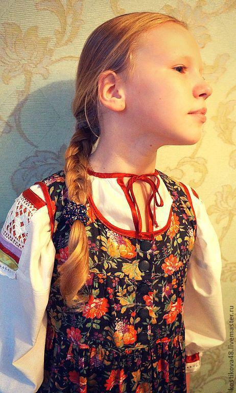 Одежда ручной работы. Ярмарка Мастеров - ручная работа. Купить Костюм для девочки -. Handmade. Костюм, сарафан, отделочная лента