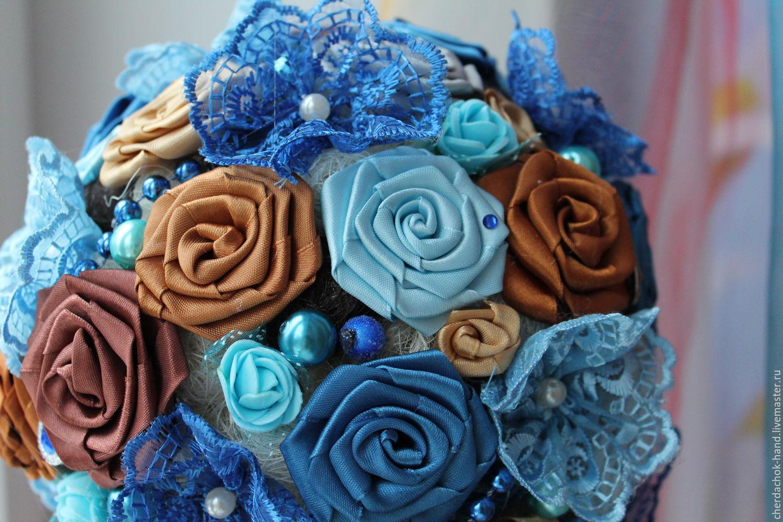 Купить цветы из атласных лент доставка цветов и подарков в баку