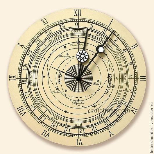 Часы для дома ручной работы. Ярмарка Мастеров - ручная работа. Купить Настенные часы. Handmade. Бежевый, часы необычные, дизайн