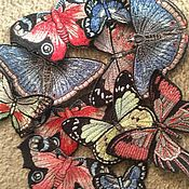 Аппликации ручной работы. Ярмарка Мастеров - ручная работа Вышивки аппликации Бабочки. Handmade.