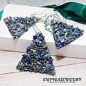 Украшения handmade. Livemaster - original item Jewelry set sodalite