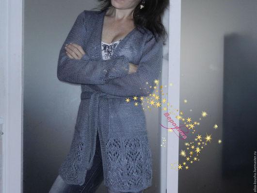 Пиджаки, жакеты ручной работы. Ярмарка Мастеров - ручная работа. Купить Кардиган угольно-серого цвета. Handmade. Серый