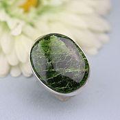 handmade. Livemaster - original item Ring with diopside. Silver.. Handmade.