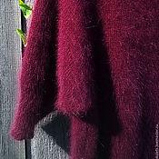 Одежда ручной работы. Ярмарка Мастеров - ручная работа винный Джемпер  из Ангоры80 (италия). Handmade.