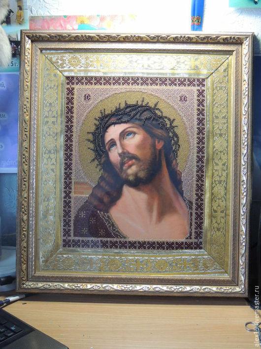 Иконы ручной работы. Ярмарка Мастеров - ручная работа. Купить Икона «Иисус в терновом венце». Handmade. Картина