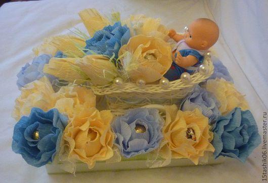 Подарки для новорожденных, ручной работы. Ярмарка Мастеров - ручная работа. Купить Подарок для новорожденного. Handmade. Букет из конфет, подарок новорожденному