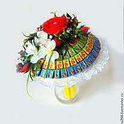 """Цветы и флористика ручной работы. Ярмарка Мастеров - ручная работа Букет из жвачек и конфет """"Подруге"""". Handmade."""