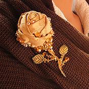 """Украшения ручной работы. Ярмарка Мастеров - ручная работа Брошь на шарф """"Золотая роза"""". Handmade."""