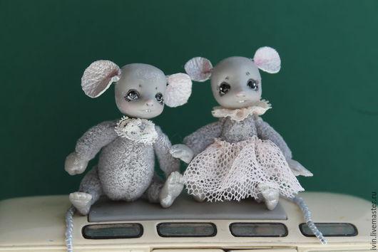 Игрушки животные, ручной работы. Ярмарка Мастеров - ручная работа. Купить Новые Перламутровые мышата.. Handmade. Серый, перламутровые мышки