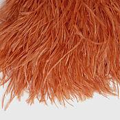 Материалы для творчества handmade. Livemaster - original item Trim of ostrich feathers 10-15 cm ginger. Handmade.