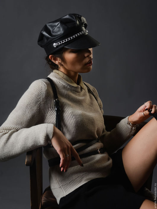 Кофты и свитера ручной работы. Ярмарка Мастеров - ручная работа. Купить Джемпер с неровным краем (S/M/L). Handmade. Бежевый, вязаный
