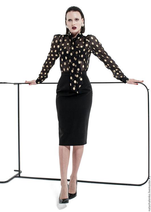 Блузки ручной работы. Ярмарка Мастеров - ручная работа. Купить Блуза. Handmade. Черный, блуза, офисный стиль