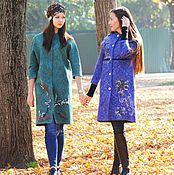 Одежда ручной работы. Ярмарка Мастеров - ручная работа Пальто с вышивкой и бархатом. Handmade.