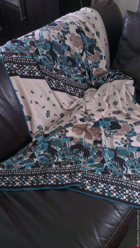 """Текстиль, ковры ручной работы. Ярмарка Мастеров - ручная работа. Купить Плед """"Сказка"""". Handmade. Комбинированный, сказочный лес, плед"""