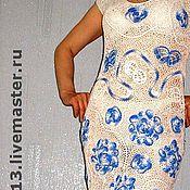 """Одежда ручной работы. Ярмарка Мастеров - ручная работа платье,,...почти Гжель"""". Handmade."""