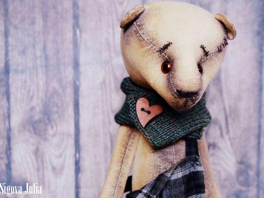 Ароматизированные куклы ручной работы. Ярмарка Мастеров - ручная работа. Купить Мишка состаренный Кристофер. Handmade. Коричневый, интерьерная игрушка