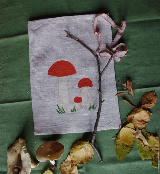 Кухня ручной работы. Ярмарка Мастеров - ручная работа. Купить Мешочек для сушеных грибов «Подосиновики». Handmade. Серый, мешочек для кухни