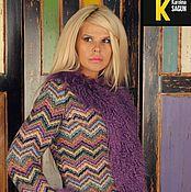 Одежда ручной работы. Ярмарка Мастеров - ручная работа Куртка шерстяной трикотаж миссони с ламой фиолетовой. Handmade.