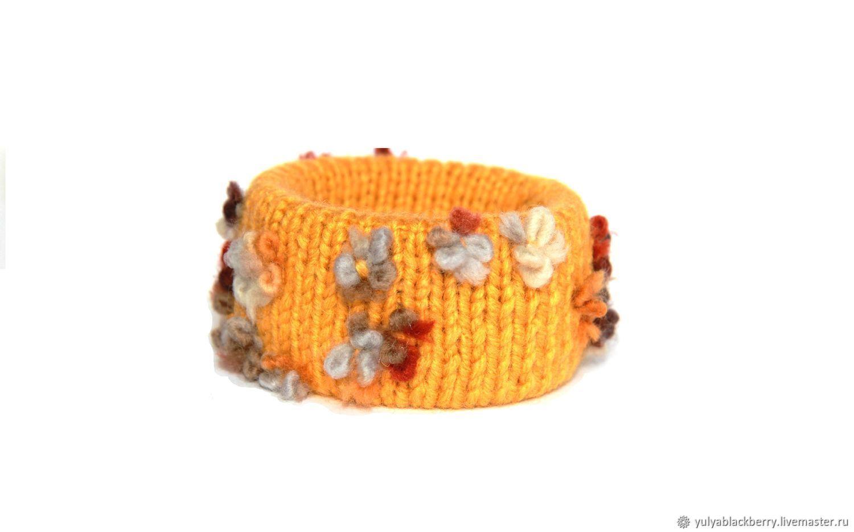 Textile bracelet ' Shades of honey', Textile bracelet, Novosibirsk,  Фото №1