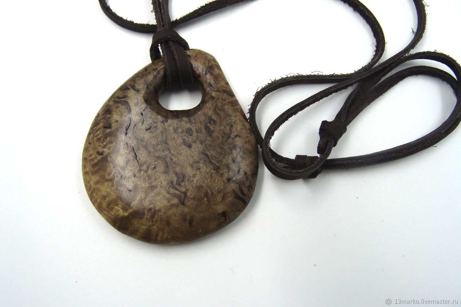 Pendant with a hole of Karelian birch, Pendant, Moscow,  Фото №1