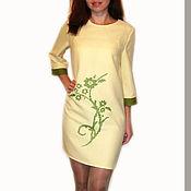 """Одежда ручной работы. Ярмарка Мастеров - ручная работа Платье с вышивкой """"Ветви"""". Handmade."""
