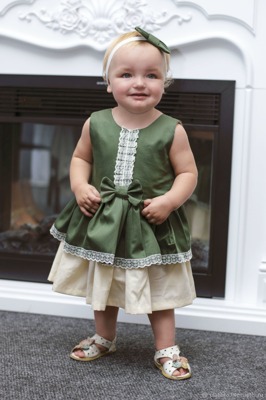 """Одежда для девочек, ручной работы. Ярмарка Мастеров - ручная работа. Купить Детское платье для девочки нарядное с двойной юбкой """"Леди"""". Handmade."""