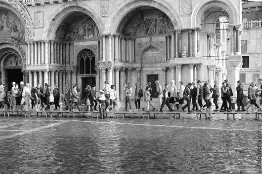 LuStyle. Авторская фоторабота `San Marco. Acqua Alta - 2`, Венеция, 2014 г.