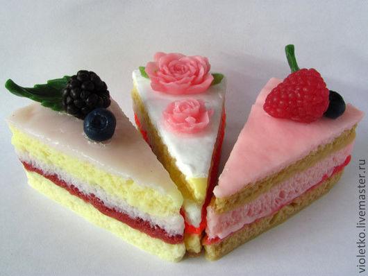 Мыло ручной работы. Ярмарка Мастеров - ручная работа. Купить Мыло Кусочек торта(треугольный). Handmade. Тортик, кусочек торта