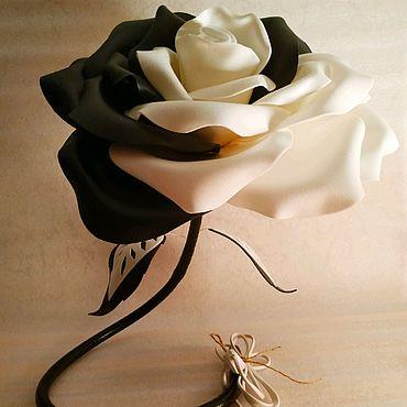 Цветы и флористика ручной работы. Ярмарка Мастеров - ручная работа Черно-белая роза. Handmade.