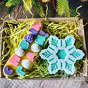 """Мыло ручной работы. Ярмарка Мастеров - ручная работа Подарочный набор """"Снежного Нового Года!"""" Мыло ручной работы. Handmade."""