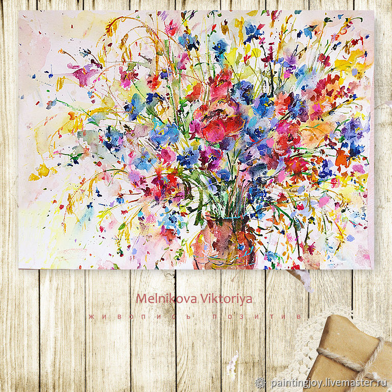 Still Life handmade. Livemaster - handmade. Buy Watercolor 'Summer in the country' A2 42/59,4,.Gift