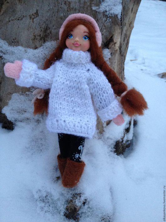 Коллекционные куклы ручной работы. Ярмарка Мастеров - ручная работа. Купить Кукла Верочка. Handmade. Белый, подарок, акрил
