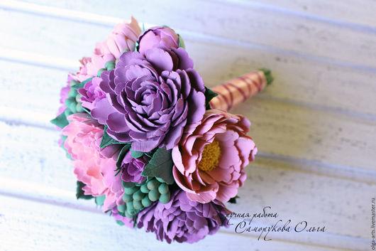 Свадебные цветы ручной работы. Ярмарка Мастеров - ручная работа. Купить Свадебный букет с пионами. Handmade. Цветы, букет цветов