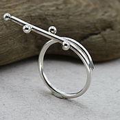 """Кольца ручной работы. Ярмарка Мастеров - ручная работа Серебряное кольцо """"Застывшие шарики"""" , регулируемое по размеру. Handmade."""