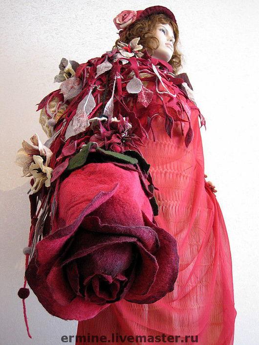 """Женские сумки ручной работы. Ярмарка Мастеров - ручная работа. Купить валяная сумка """"Роза"""". Handmade. Сумка, сумочка, шерсть"""