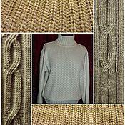 Одежда ручной работы. Ярмарка Мастеров - ручная работа 50 % лён+30% шерсть +10% хлопок +10 % полиэстерСвитер женский ОСЕНЬ. Handmade.