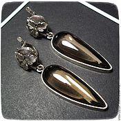 Украшения handmade. Livemaster - original item earrings with smoky quartz-topaz. Handmade.