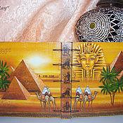 """Канцелярские товары ручной работы. Ярмарка Мастеров - ручная работа Блокнот """"Египет"""". Handmade."""