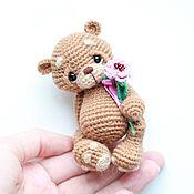 Куклы и игрушки ручной работы. Ярмарка Мастеров - ручная работа амигуруми мишка Макс вязаная игрушка. Handmade.