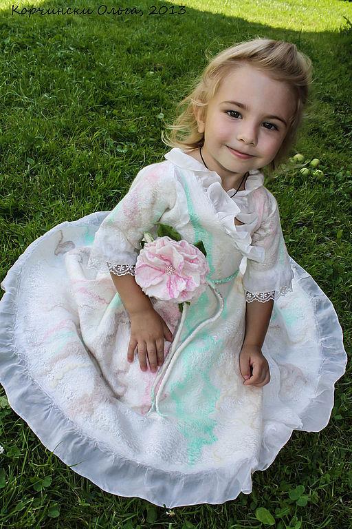 Одежда для девочек, ручной работы. Ярмарка Мастеров - ручная работа. Купить Платье детское нарядное. Handmade. Белый, платье для торжества