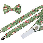 Аксессуары handmade. Livemaster - original item Set bow tie and suspenders