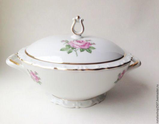 Винтажная посуда. Ярмарка Мастеров - ручная работа. Купить Супница KAHLA Винтаж. Handmade. Белый, гдр, фарфоровая посуда, фарфор
