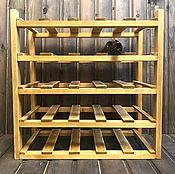Для дома и интерьера handmade. Livemaster - original item Wine rack for 25 bottles in oak color. Handmade.