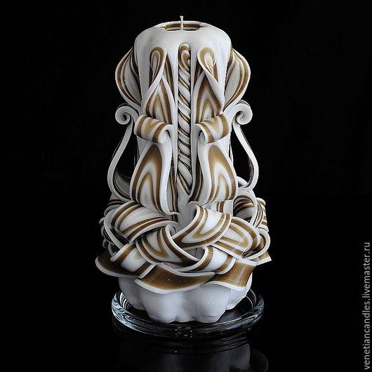 Свечи ручной работы. Ярмарка Мастеров - ручная работа. Купить Резная свеча 278. Handmade. Декоративные свечи, Свечи