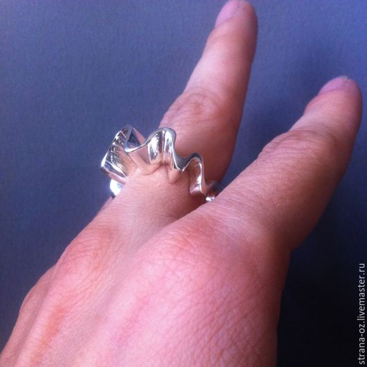 """Кольца ручной работы. Ярмарка Мастеров - ручная работа. Купить Необычное серебряное кольцо """" Арлекин"""". Handmade. Модное украшение"""
