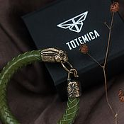 Украшения handmade. Livemaster - original item Rabbit Bracelet | Bronze / Premium Leather. Handmade.