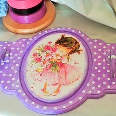 """Для дома и интерьера ручной работы. Ярмарка Мастеров - ручная работа Детская вешалка """"Маленькая принцесса"""". Handmade."""