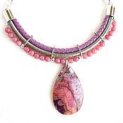 Украшения handmade. Livemaster - original item Necklace with a pendant and agates