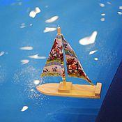 Куклы и игрушки ручной работы. Ярмарка Мастеров - ручная работа Кораблики с парусами. Handmade.